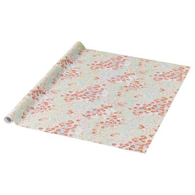 PURKEN Geschenkpapierrolle, Blumenmischung, 3.0x0.7 m