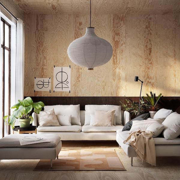RÖDASK Teppich flach gewebt, hellbraun, 133x195 cm