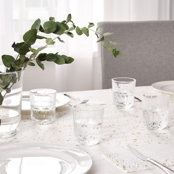 SÄLLSKAPLIG Glas, Klarglas/gemustert, 27 cl