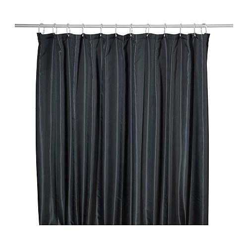 Ikea Duschvorhang : Black Shower Curtain