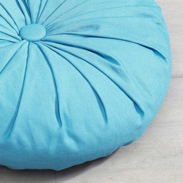 SAMMANKOPPLA Kissen, rund blau, 40 cm