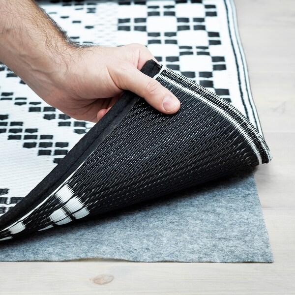 SAMMANKOPPLA Teppich flach gewebt, schwarz/weiß, 180x240 cm