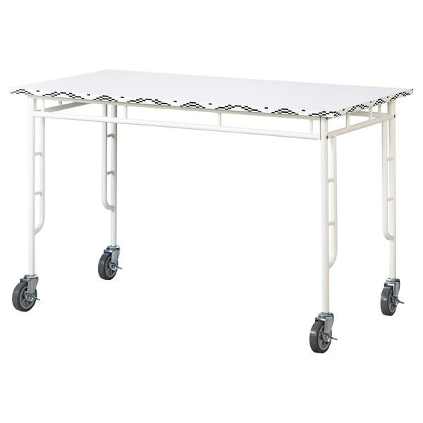 SAMMANKOPPLA Tisch, weiß/schwarz, 120x60 cm