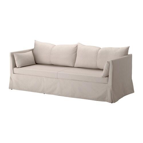 sandbacken 3er sofa lofallet beige ikea. Black Bedroom Furniture Sets. Home Design Ideas