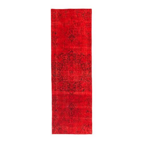 Silkeborg Teppich Kurzflor Handarbeit Rot Ikea