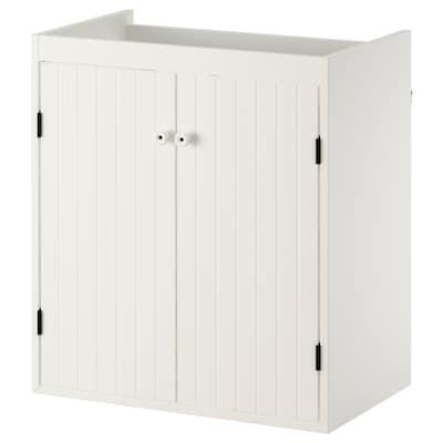 SILVERÅN Waschkommode, 2 Türen weiß 60 cm 38 cm 67.6 cm