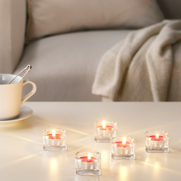 SINNLIG Teelicht, duftend, Rote Gartenbeeren/rot