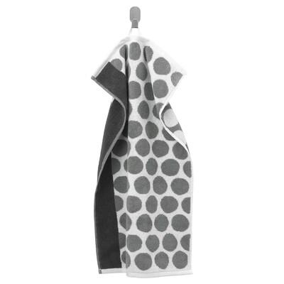 SJÖVALLA Handtuch, anthrazit/weiß, 40x70 cm