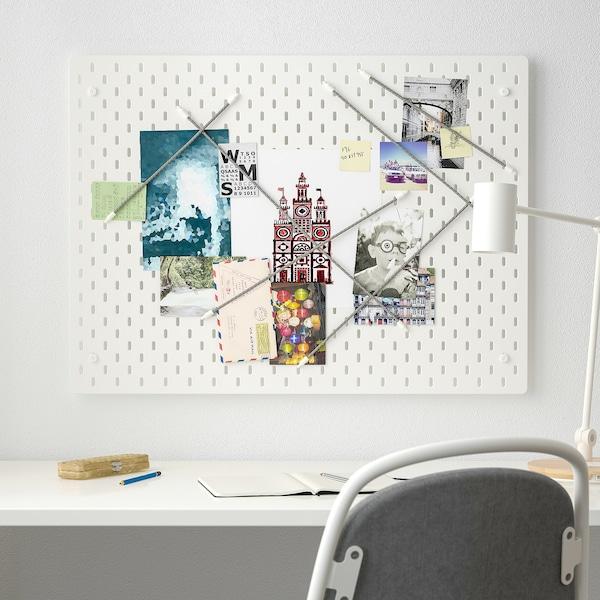 SKÅDIS Lochplatte/Kombination, weiß, 76x56 cm