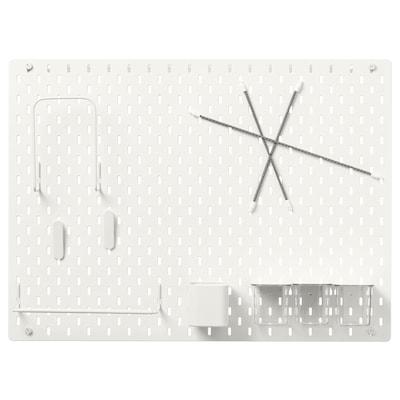 SKÅDIS Lochplatte/Kombination weiß 76 cm 12 cm 56 cm