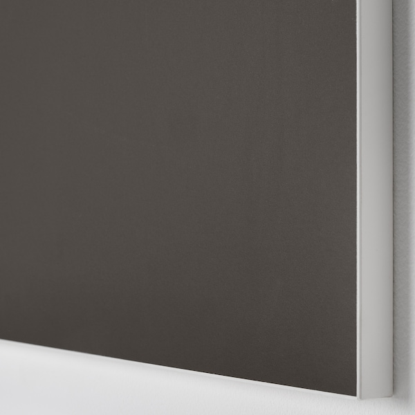SKATVAL Tür mit Scharnier, dunkelgrau, 40x60 cm