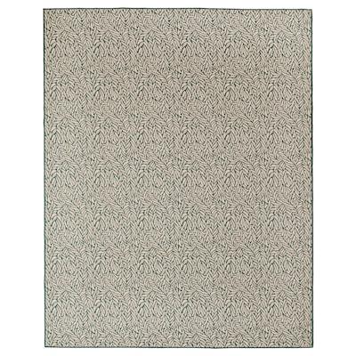 SKELUND Teppich flach gewebt, drinnen/drau grünbeige 250 cm 200 cm 4 mm 5.00 m² 1295 g/m²