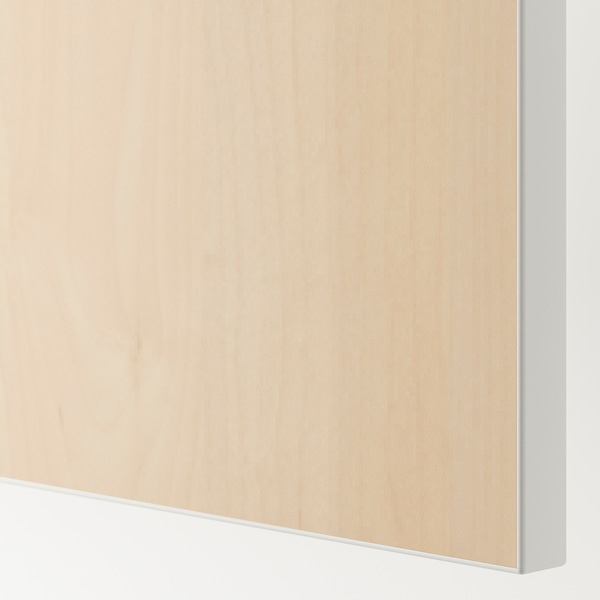 SKROVA Schiebetürpaar, Birke, 120x180 cm
