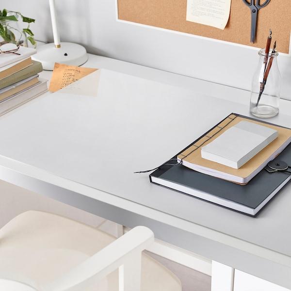 SKVALLRA Schreibunterlage, weiß/transparent, 60x80 cm