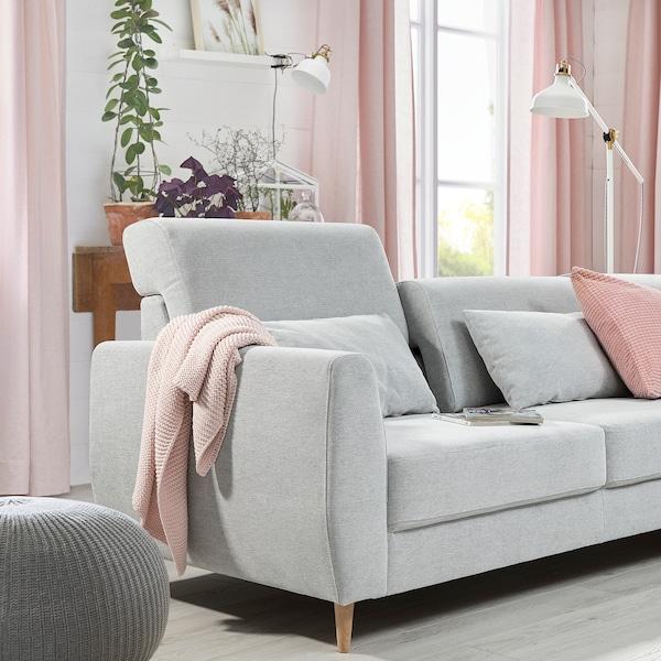 SLATORP 3er-Sofa, mit Récamiere rechts/Tallmyra weiß/schwarz