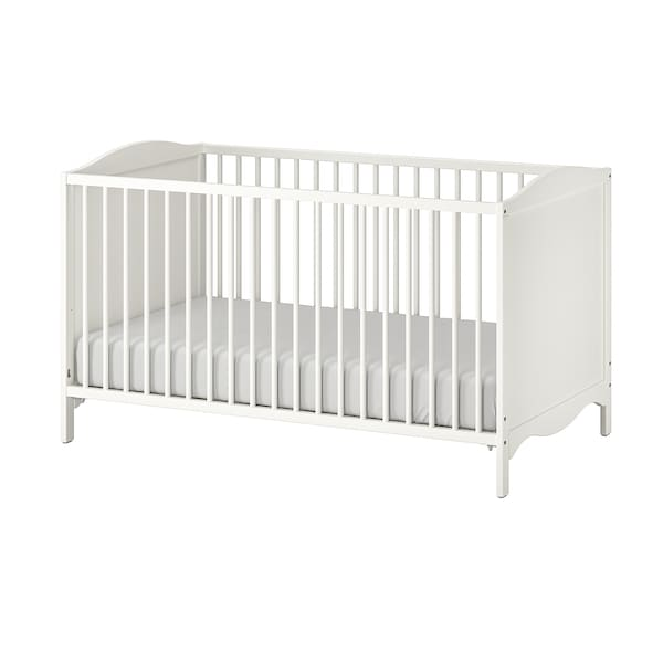 SMÅGÖRA Babybett weiß 144 cm 75 cm 79 cm 70 cm 140 cm 20 kg 55 cm