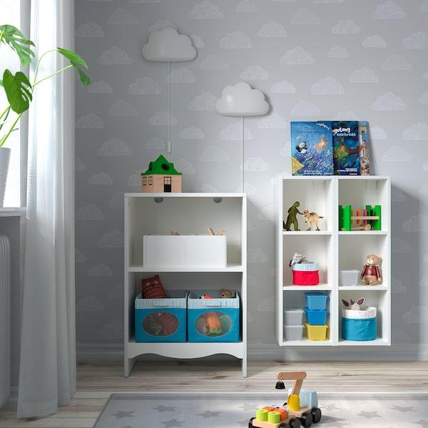 SMÅGÖRA Wickeltisch/Bücherregal + 2 Regale, weiß