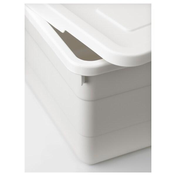 SOCKERBIT Box mit Deckel, weiß, 19x26x15 cm