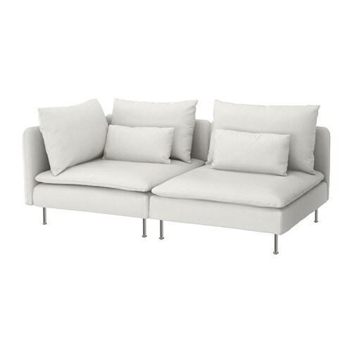 Soderhamn 3er Sofa Ohne Abschluss Finnsta Weiss Ikea