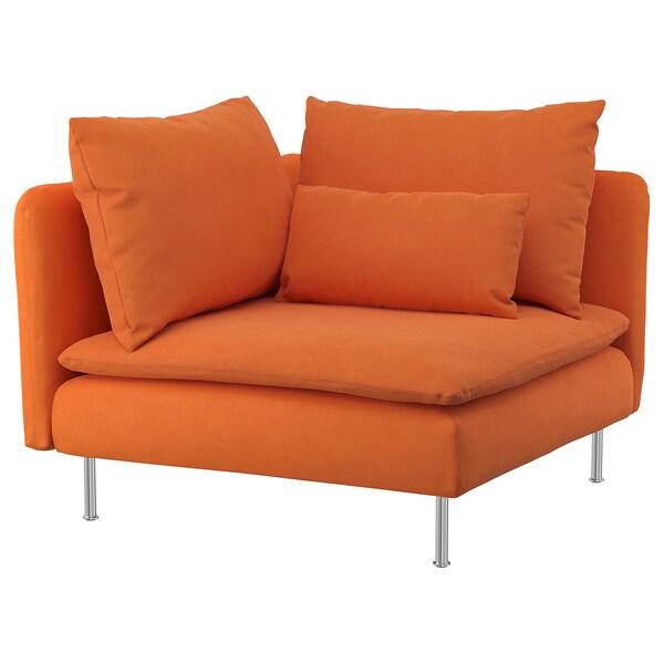 SÖDERHAMN Eckelement Samsta orange 99 cm 99 cm 83 cm 63 cm 48 cm 40 cm
