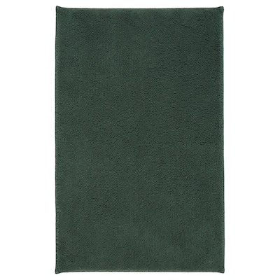 SÖDERSJÖN Badematte, dunkelgrün, 50x80 cm