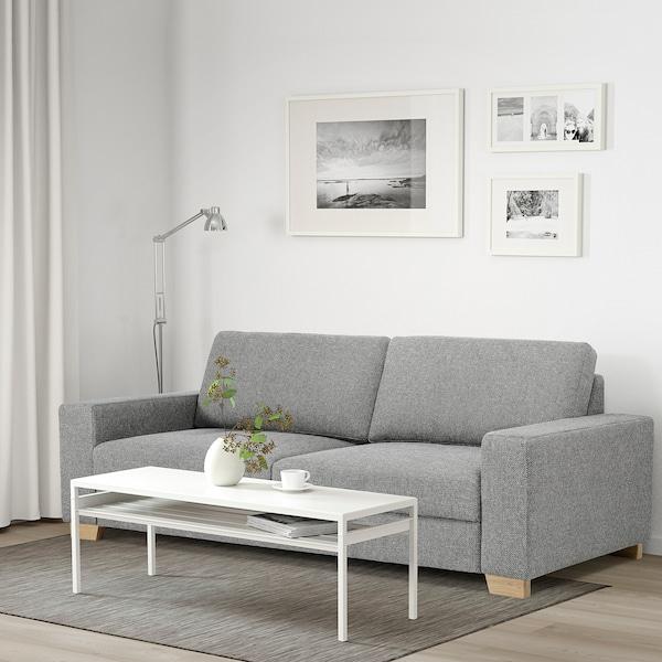 SÖRVALLEN 3er-Sofa, Lejde grau/schwarz