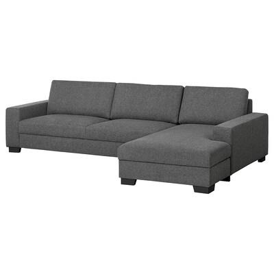 SÖRVALLEN 4er-Sofa mit Récamiere rechts/Lejde dunkelgrau 313 cm 88 cm 102 cm 193 cm 153 cm 7 cm 58 cm 270 cm 60 cm 45 cm