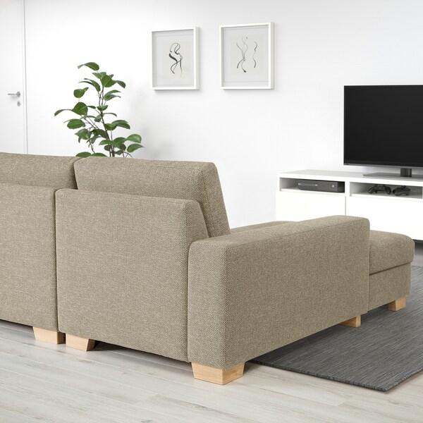 SÖRVALLEN Sofa, U-Form/4-sitzig Lejde dunkelbeige 365 cm 88 cm 102 cm 232 cm 7 cm 58 cm 60 cm 45 cm