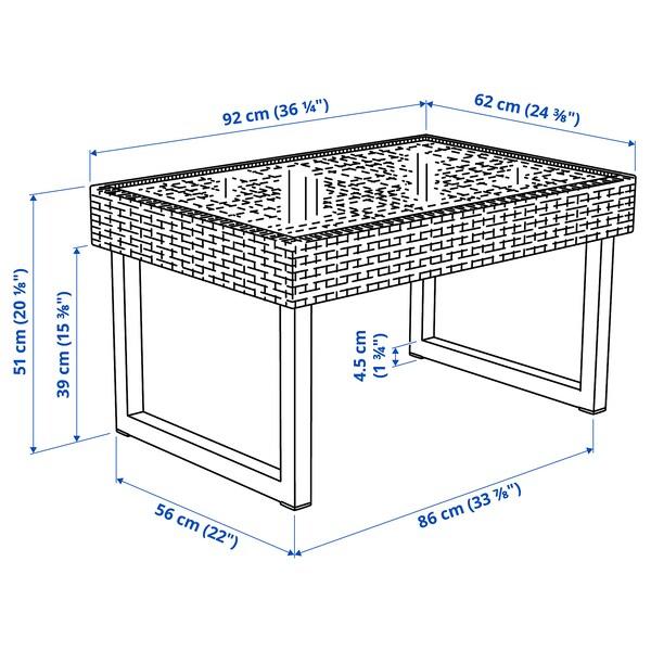 SOLLERÖN Couchtisch/außen, anthrazit/dunkelgrau, 92x62 cm