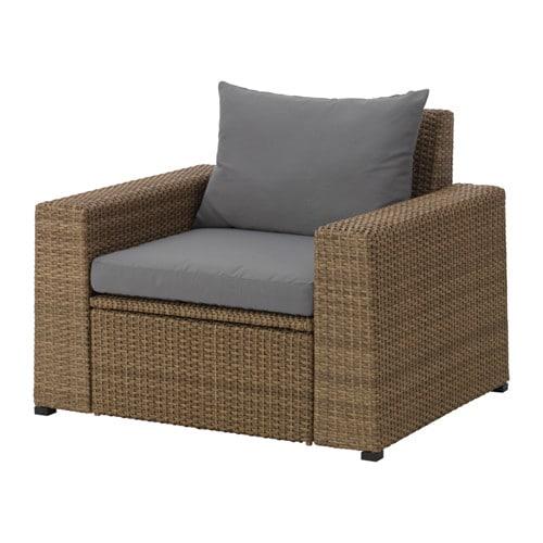 soller n sessel au en braun h ll grau ikea. Black Bedroom Furniture Sets. Home Design Ideas