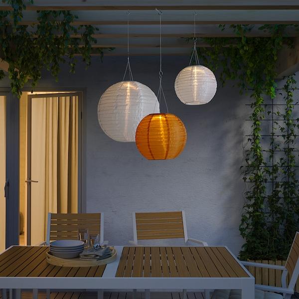 SOLVINDEN Solarhängeleuchte, LED für draußen/rund goldfarben 2 lm 30 cm 26 cm 26 cm