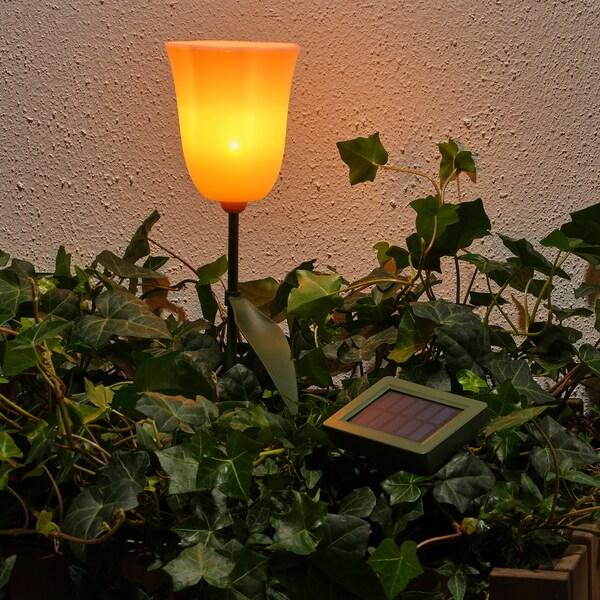 SOLVINDEN Solar-Erdspieß, LED, für draußen/Tulpe rosa