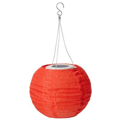 SOLVINDEN Solarhängeleuchte, LED, für draußen/rund orange, 22 cm