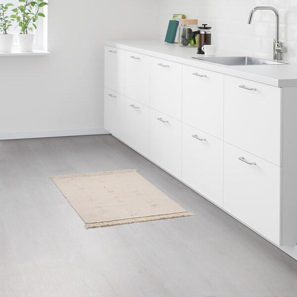 SORTSÖ Teppich flach gewebt ungebleicht 85 cm 55 cm 3 mm 0.47 m² 1000 g/m²
