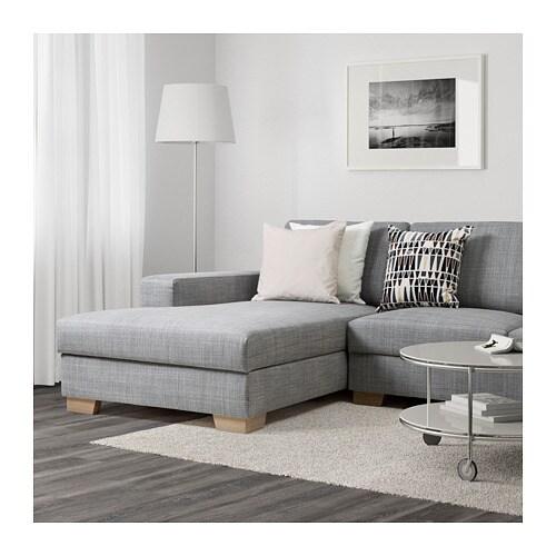Sorvallen 3er Sofa Mit Recamiere Rechts Teno Hellgrau Ikea