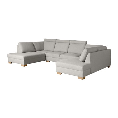 s rvallen sofa u form 4 sitzig ten hellgrau ikea. Black Bedroom Furniture Sets. Home Design Ideas