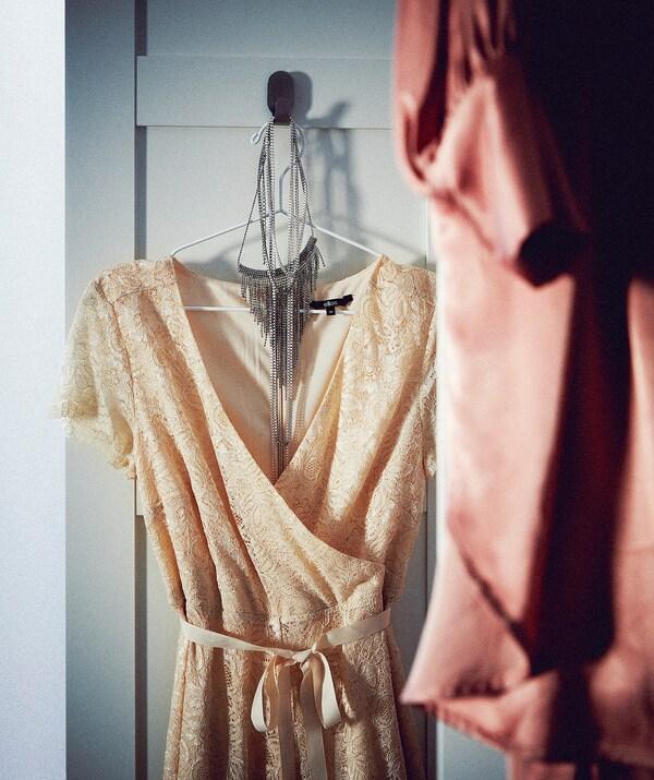 STAJLIG Kleiderbügel, innen/außen weiß 41 cm 5 Stück