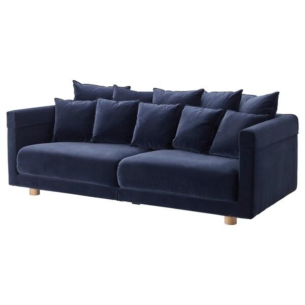 STOCKHOLM 2017 3er-Sofa, Sandbacka dunkelblau