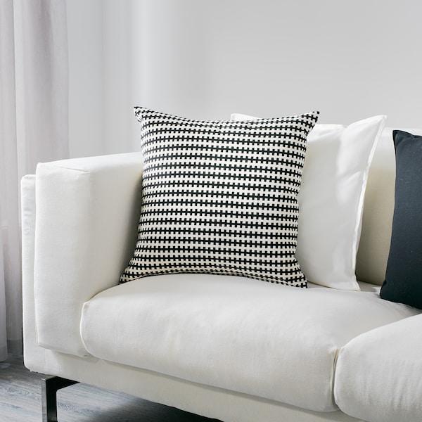 STOCKHOLM Kissen, schwarz/weiß, 50x50 cm