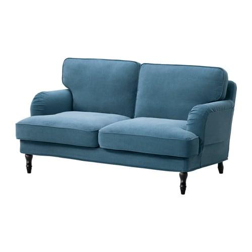 stocksund 2er sofa ljungen blau schwarz ikea. Black Bedroom Furniture Sets. Home Design Ideas