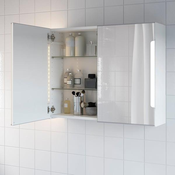 STORJORM Spiegelschrank m. 2 Türen+int. Bel.   weiß   IKEA Schweiz