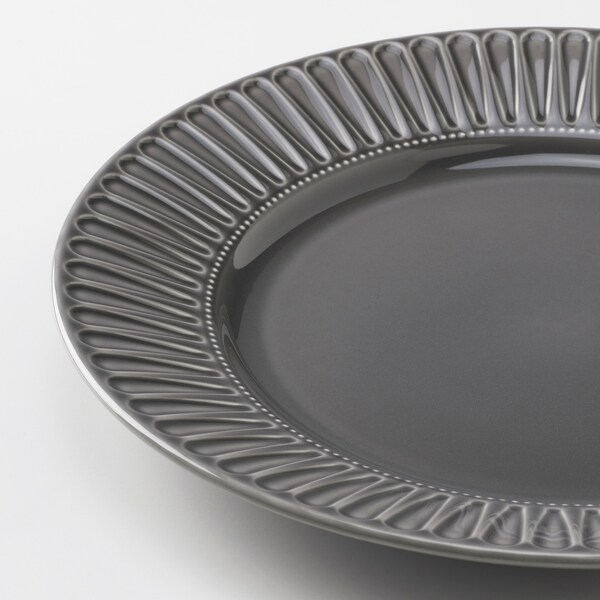 STRIMMIG Teller Steingut grau 27 cm