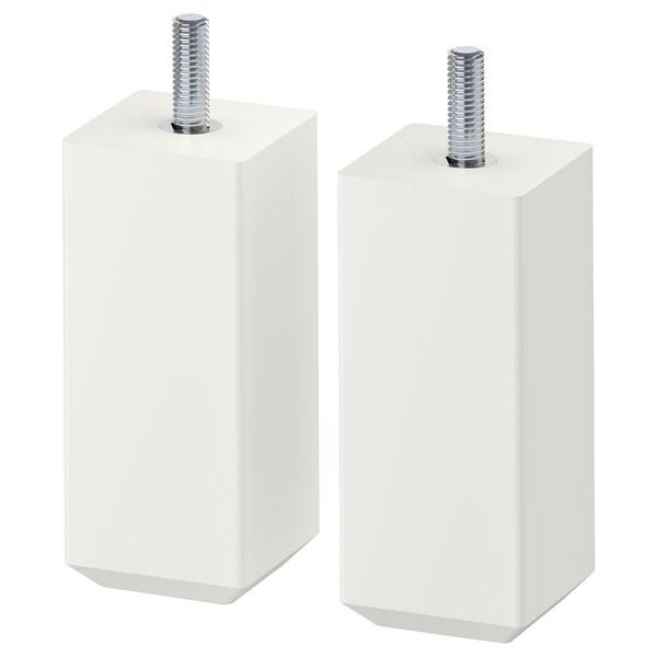 STUBBARP Bein weiß 44 mm 44 mm 100 mm 10 cm 11 cm 2 Stück