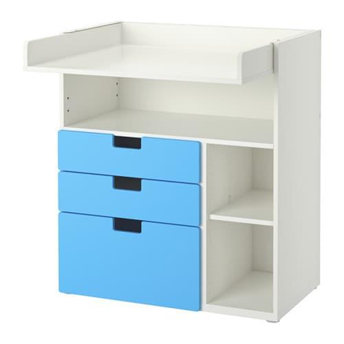 stuva wickeltisch mit 3 schubladen ikea. Black Bedroom Furniture Sets. Home Design Ideas