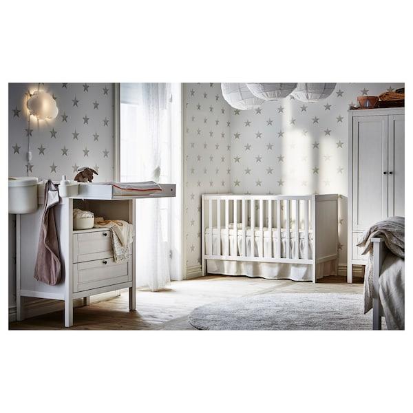 SUNDVIK Babybett weiß 145 cm 76 cm 85 cm 70 cm 140 cm 20 kg