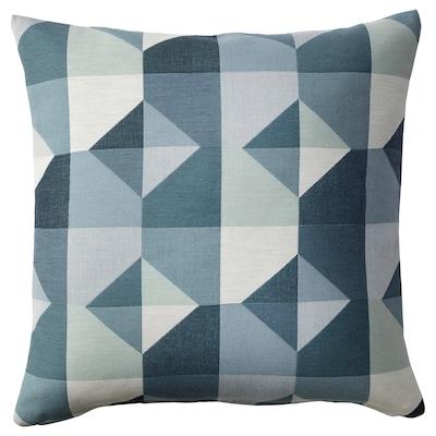 SVARTHÖ Kissenbezug, grün/blau, 50x50 cm