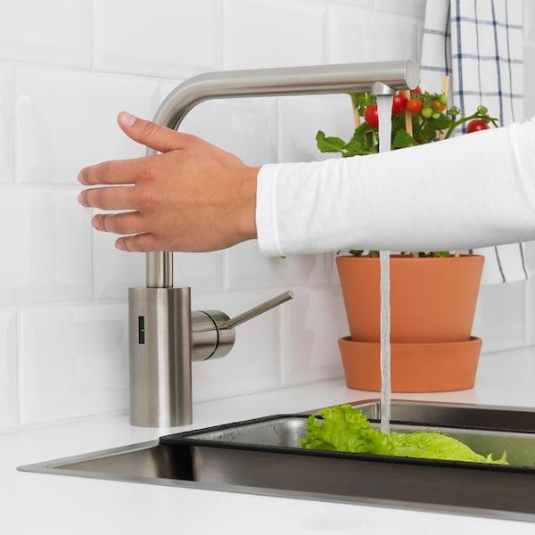TÄMNAREN Mischbatterie/Küche mit Sensor, stahlfarben