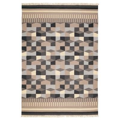 TÅRBÄK Teppich flach gewebt, Handarbeit/grau/beige, 170x240 cm