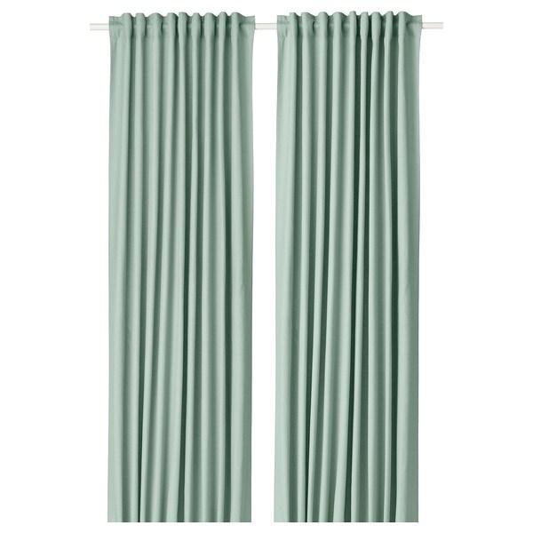 TIBAST 2 Gardinenschals, grün, 145x300 cm