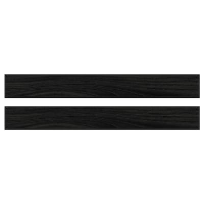TINGSRYD Schubladenfront Holzeffekt schwarz 79.7 cm 10 cm 80 cm 9.7 cm 1.6 cm 2 Stück